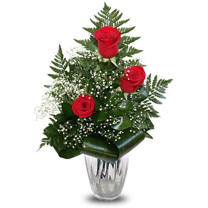 Comprar Y Enviar Flores Arreglo 3 Rosas Feeling